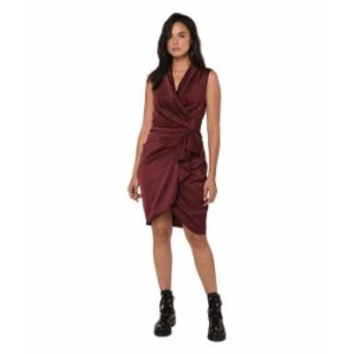 オールセインツ レディース ワンピース トップス Cancity Dress Oxblood Red