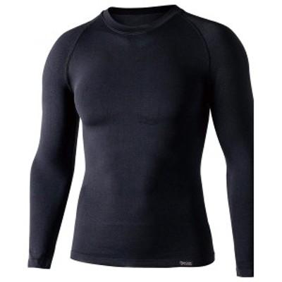 ボディタフネス BTデュアルクロス ロングスリーブ クルーネックシャツ(ブラック・L~XL) BODY TOUGHNESS 2113695JW-592【返品種別A】