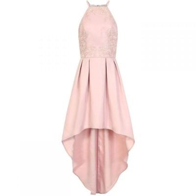 チチ Chi Chi レディース パーティードレス ワンピース・ドレス Embroidered Pleated Dip Hem Dress Pink