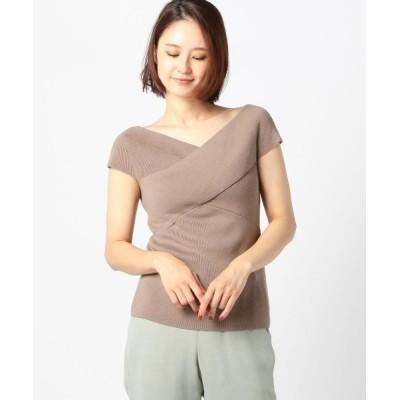 MEW'S REFINED CLOTHES / 洗えるクロスオフショルニット WOMEN トップス > ニット/セーター
