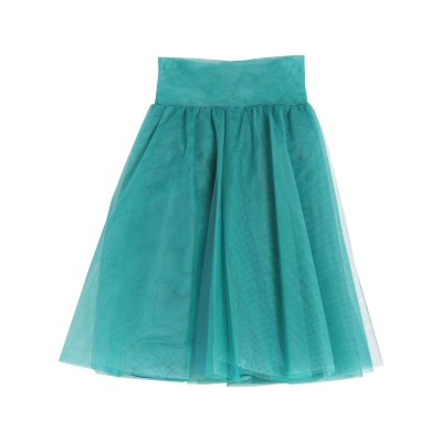 ピンコ PINKO ミディスカート エメラルドグリーン 40 ナイロン 100% ミディスカート