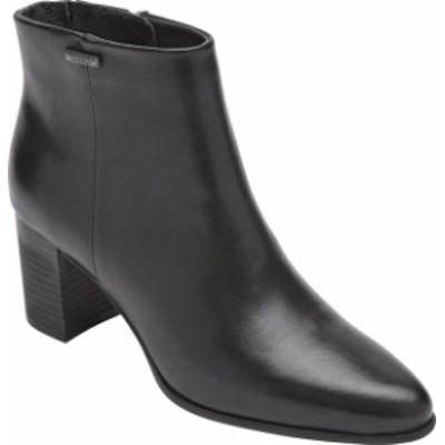 ロックポート レディース ブーツ・レインブーツ シューズ Women's Rockport Camdyn Bootie Black Waterproof Leather