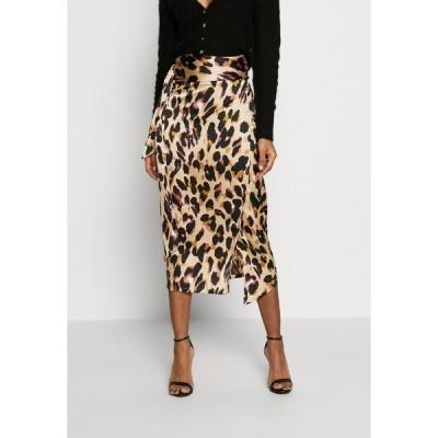 ネバーフリードレスド スカート レディース ボトムス JASPRE DITSY PRINT SKIRT - Wrap skirt - brown