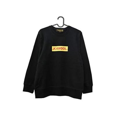 KANGOL POP LOGO CREW SWEAT BLACK LCK0048 (ブラック L)