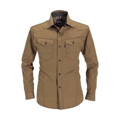 バートル(BURTLE) 作業服 長袖シャツ メンズ レディース 5Lサイズ 24/キャメル 1515 作業着 ワークウエア 仕事着 まとめ買い ユニセックス