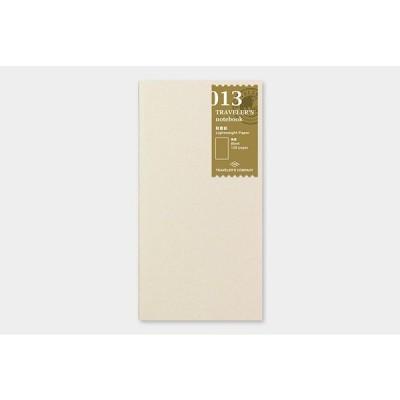 トラベラーズノートデザインフィル013 軽量紙リフィル013 Lightweight Paper Notebook14287-006レギュラーサイズ