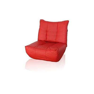 リクライニング座椅子 2人掛けソファ リクライニング 合成皮革 レッド いす チェア