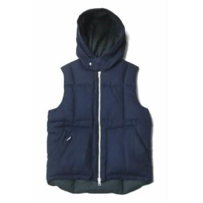 Engineered Garments エンジニアードガーメンツ カナダ製 Hooded Down Vest 700Fill フーデッド ホワイトグースダウンベスト XS ネイビー