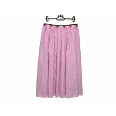 ブルーガールブルマリン BLUGiRL BLUMARINE ロングスカート サイズ38(I) S レディース - パープル×白 ストライプ【還元祭対象】【中古】