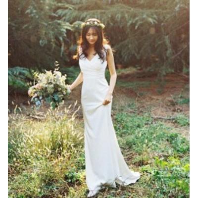 パーティドレス レディース ウェディングドレス ワンピース マーメイド 人魚 ブライダル花嫁 エレガント 結婚式 二次会 お呼ばれ 写真撮