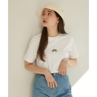 tシャツ Tシャツ レインボー刺繍Tシャツ TINA:JOJUN