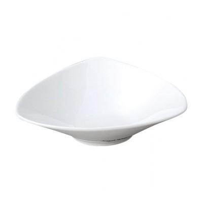 AngelWhite トライアングルディープ 小 白い器 洋食器 楕円・変形ボール(SS) 業務用 約14.5cm