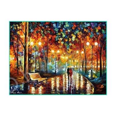 Rain's Rustle 2 ? Colorful Large Landscape Oil Painting On Canvas By Leonid Afremov