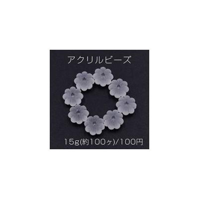 アクリルビーズ スクラブ AB彩 フラワー 5×8mm【15g(約100ヶ)】