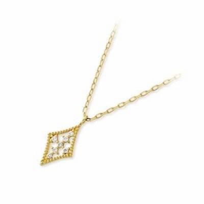 ネックレス レディース isu イエローゴールド クロス ダイヤモンド 4月の誕生石 誕生日プレゼント ギフト