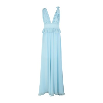 PINKO UNIQUENESS ロングワンピース&ドレス スカイブルー 42 78% コットン 22% シルク ロングワンピース&ドレス