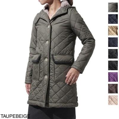トラディショナルウェザーウェア Traditional Weatherwear 裏ボア仕様 フーデッドキルティングコート レディース アウター シングル ボア フード