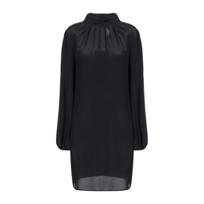 MEM.JS ミニワンピース&ドレス ブラック XS アセテート 95% / シルク 5% ミニワンピース&ドレス