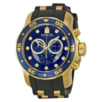 インヴィクタ 腕時計 Invicta Pro Diver クロノグラフ ブルー ダイヤル ブラック ラバー メンズ 腕時計 6983