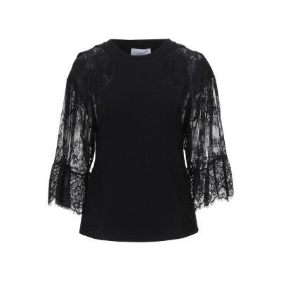 DIMORA T シャツ ブラック 44 コットン 95% / ポリウレタン 5% / ナイロン T シャツ