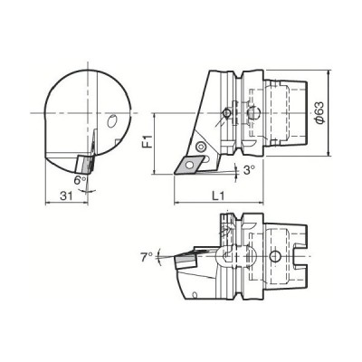京セラ ツーリング機器 T63H−PDJNR−DX15 1個 (メーカー直送)