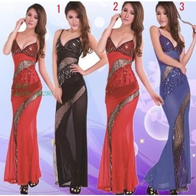 パーティードレス ノースリーブ タイトワンピース お嬢様 ウェディングドレス イブニングドレス 3色 ワンピ 二次会 レディース かわいい Vネック オシャレ