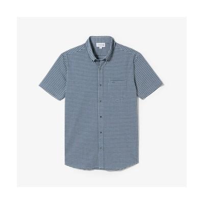 (LACOSTE Mens/ラコステ メンズ)ギンガムチェック ビズポロ (半袖)/メンズ ロイヤルブルー
