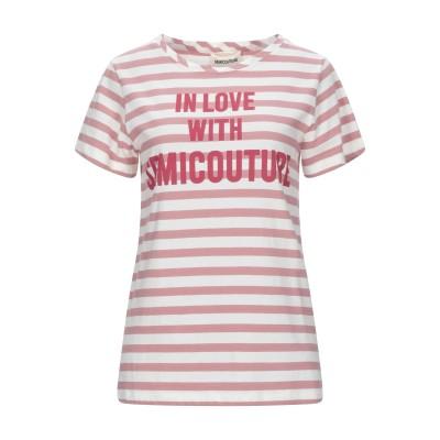セミクチュール SEMICOUTURE T シャツ パステルピンク XS コットン 100% T シャツ