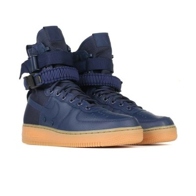 ナイキ NIKE エア フォース ワン Air Force 1 Special Field SF AF High Top Sneakers Boots メンズ 864024-400 Midnight Navy
