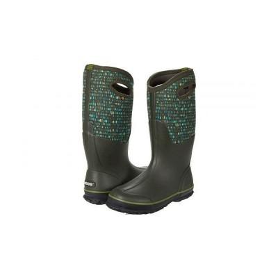 Bogs ボグス レディース 女性用 シューズ 靴 ブーツ レインブーツ Classic Tall Twinkle - Dark Green Multi