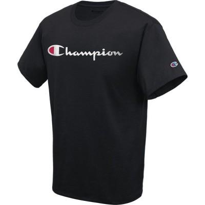 チャンピオン Champion メンズ Tシャツ トップス Script Logo T-Shirt Black