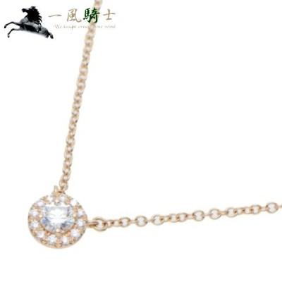 TIFFANY&Co. ティファニー ソレスト ネックレス サークル K18PG×ダイヤモンド 中古 (355160)