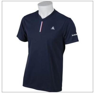 ルコック lecoqsportif 半袖Tシャツ QT011161 NVY ブレストリーム半袖シャツ メンズ テニス ネイビー