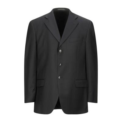 LUBIAM テーラードジャケット ダークブルー 54 スーパー110 ウール 100% テーラードジャケット