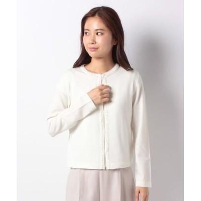 MADAM JOCONDE/マダムジョコンダ ビーズ刺繍カーディガン ホワイト 38