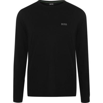 ヒューゴ ボス BOSS メンズ 長袖Tシャツ トップス Togn Long Sleeve T Shirt Black