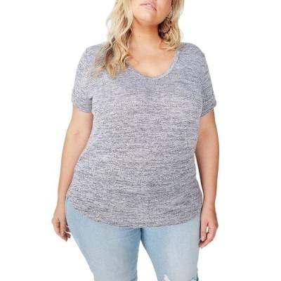 コットンオン Tシャツ トップス レディース Trendy Plus Size Karly Short Sleeve Tee Gray