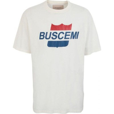 ブシェミ BUSCEMI メンズ Tシャツ トップス Airline Printed T-Shirt White