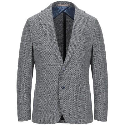 パオローニ PAOLONI テーラードジャケット ブルー 50 コットン 68% / 麻 32% テーラードジャケット