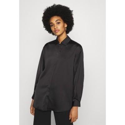 ヤス レディース シャツ トップス YASTERESA LONG - Button-down blouse - black black