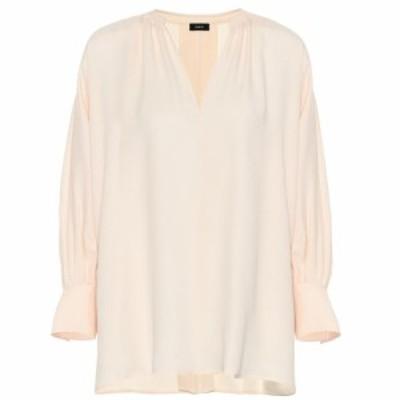 ジョゼフ Joseph レディース ブラウス・シャツ トップス Silk blouse Clotted Cream