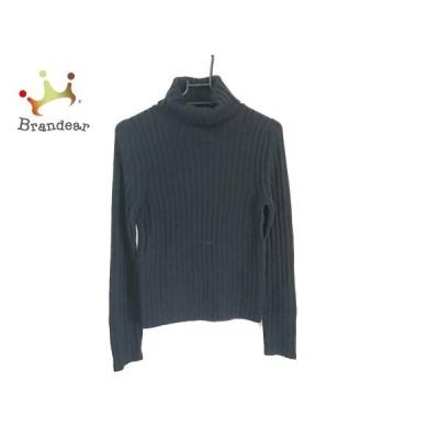 ニジュウサンク 23区 長袖セーター サイズ38 M レディース 美品 ダークネイビー タートルネック   スペシャル特価 20200406