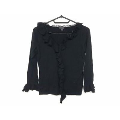 エポカ EPOCA 長袖セーター サイズ40 M レディース 美品 黒 フリル【還元祭対象】【中古】20200616