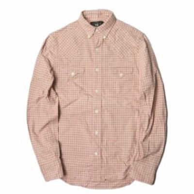 RRL ダブルアールエル PLAID WESTERN SHIRTS ブロックチェックウエスタンシャツ XS ピンク 長袖 ギンガム ボタンダウン トップス