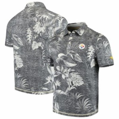 Tommy Bahama トミー バハマ シャツ ポロシャツ Tommy Bahama Pittsburgh Steelers Black Parque Polo