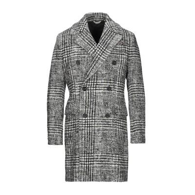 マニュエル リッツ MANUEL RITZ コート ブラック 50 コットン 47% / ポリエステル 20% / アクリル 19% / バージンウ