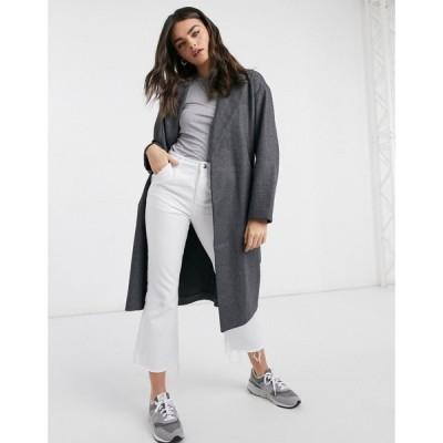 ヴェロモーダ Vero Moda レディース コート アウター Tailored Coat With Belted Waist In Dark Grey ダークグレー