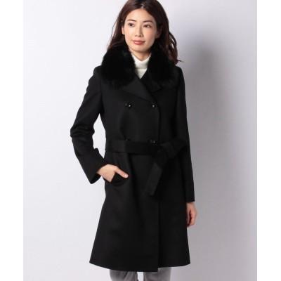 (Riamasa/リアマッサ)カシミヤコート(フォックス衿)コート/レディース ブラック