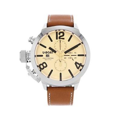 U-Boat Classico Automatic Watch, Tungsten, Beige, 50mm, Chronograph, 7433/A 並行輸入品