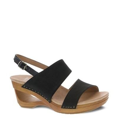 ダンスコ レディース サンダル シューズ Tamia Textured Leather Wedge Sandals